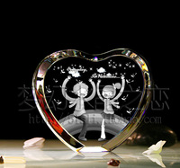 Personalized valentine day crystal gift  marriage gift