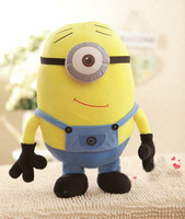 2014 50cm One-eyed Smile  Despicable Me 2 Stewart Minion Plush Doll 3D Eye Stuffed Animal Collectiable  hot sale