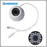 Free shipping! White 24IR 3.6mm CMOS 420TVL Surveillance CCTV Home Security Dome Camera Wide Angle