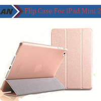 2014 New Luxury High Quality PU Leather For iPad Mini 2 Cases Flip Case With Stander And Smart Function For iPad Mini & Mini 2
