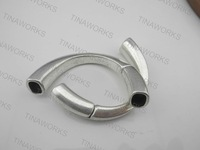 FREE SHIPPING 10pcs Antique Silver Magnetic Half Cuff Bracelet Finding for Licorice Leather  Approx. 9.5mmx6.0mm