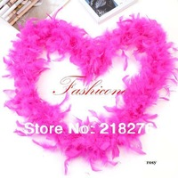 40g  Wedding Marabou Feather Boa  Feather Strip DIY Multiple Colors 2M Length
