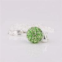 Fashion Jewelry Shamballa Necklace New Tresor Paris Allure CZ Disco Ball Bead sohn cbie
