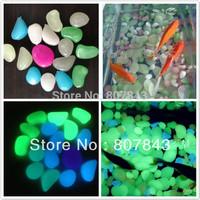 6 COLOR  50PC  Glow in the dark stones for FISH TANK AQUARIUM Garden luminous stones