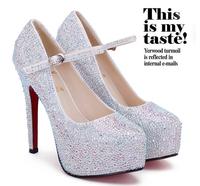 2014 Fashion Women Pumps High Heels Platform red bottom high heels Party Dance Shoes Ladies Women's Shoes Wedding Shoes 166-1
