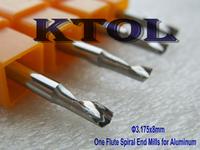 5pcs 3.175*8MM Import Tungsten Steel 1 Flute Aluminum CNC Bits Cutting,Aluminum End Mill Milling Cutters for CNC Machine Tools