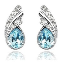 Day gift crystal accessories crystal stud earring - flowerier a39