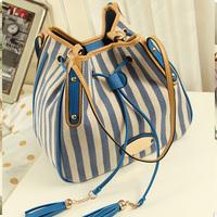 Bags 2014 women's handbag preppy style vintage women's bags canvas bag shoulder bag