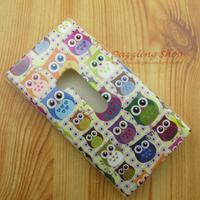 gray many owl TPU soft case for Nokia Lumia 920 high quality colorful owls protective cover Nokia Lumia 920 case