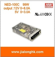 Free Shipping- NED-100C 99W dual output switching power supply  output 12V 5V meanwell NED100C ned100c ned-100c -100% New