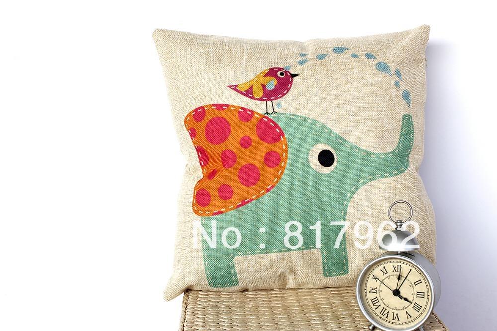 casamento criativo almofadas do sofá de casa imprimir caso capa de almofada elefante min1lot/2 pcs promoção presentes de amor almofadas(China (Mainland))