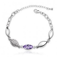 Girls accessories bracelet accessories crystal bracelet audio shell 3014