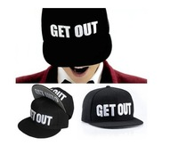 free shipping 5pcs/lot  2014 New Design fashion GET OUT baseball caps,men and women fashion rivet peaked hats wholesale