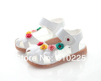 Free Shipping Children Flower Shoes 2014 Kid's Shoes Girls Sandals Kids Shoe For Girl Baby Footwear
