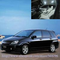 Free Shipping 11pcs/lot White 12 volt Interior Car LED Lights For Suzuki Aerio Wagon 2002-2007