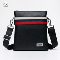 The new business fashion first layer of leather men's shoulder messenger bag / shoulder bag men's vertical section