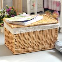 Free Shipping Wicker rattan wardrobe high quality product with cover storage box storage box 37CM*26CM*21CM