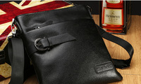 Hot !!! Free shippingn New fashion 2014  Genuine leather men shoulder bag,business fit &  for ipad fit