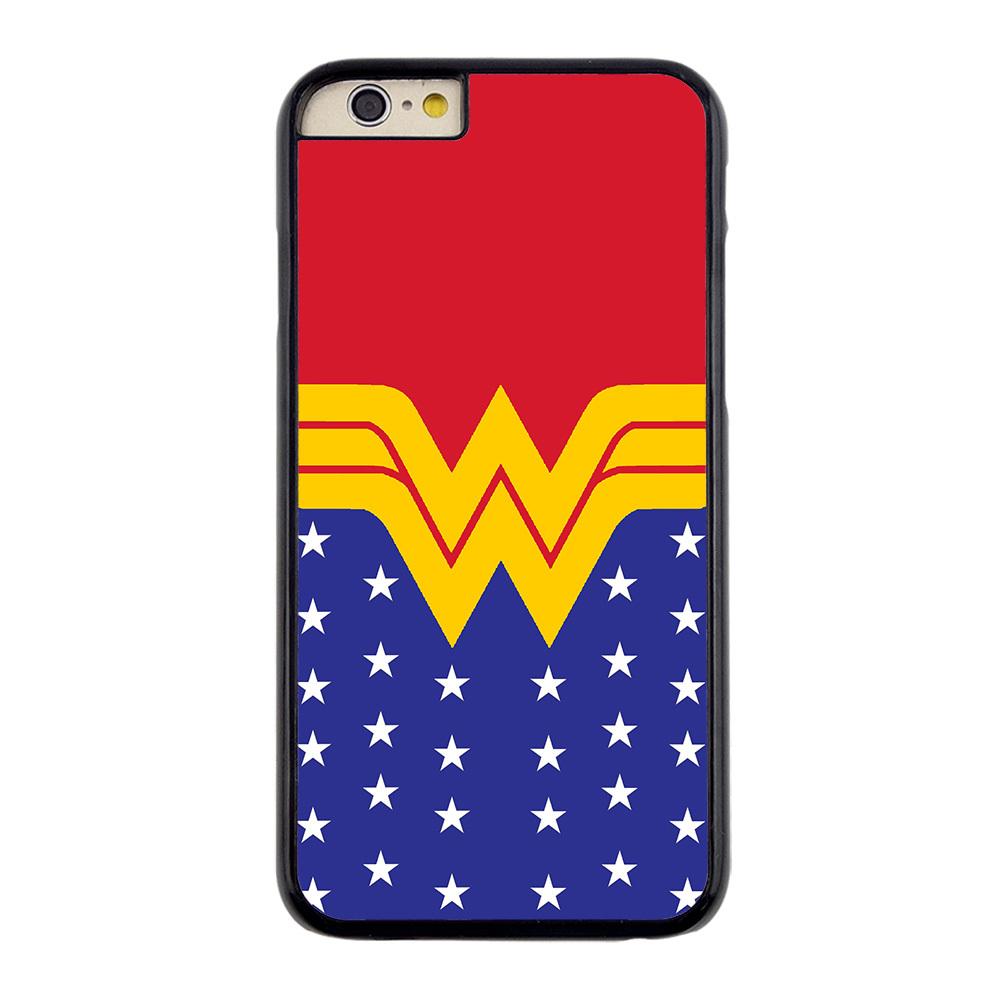 Popular Comics Wonder Woman Logo Durable Hard Plastic Customized Case for iPhone 4/4s 5/5s 5C(China (Mainland))
