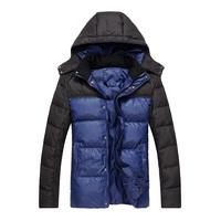 Free Shipping 2012 MENS WINTER DUCK DOWN Wear Woolen Down jacket coat Climbing Hiking