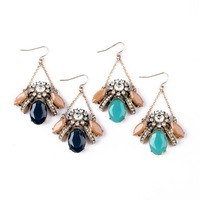 2014 Gorgeous Blue Insect Drop Earring Design Earring Charm Earring Free Shipping (Min Order $20 Can Mix)