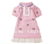 2014 Spring New Girls Princess Dress/Fashion Girls  Knitting Dress/Kids Dress For Girls/High Quality Cotton Dress Of Girls
