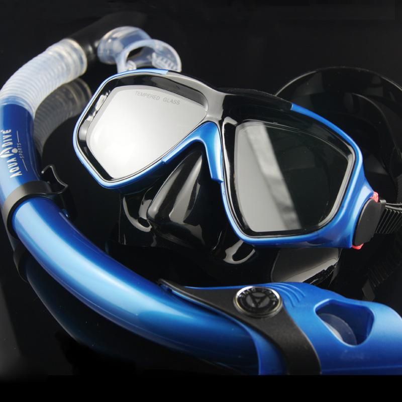 Myopia submersible mirror pure silica gel submersible mirror full dry breathing tube snorkel mirror face mask snorkel triratna(China (Mainland))