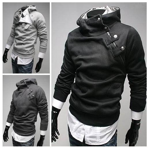 HOT! 2014 NEW High Collar Men's Jackets ,Men's Sweatshirt,Dust Coat ,Hoodies Clothes,cotton wholesale SIZE:M-XXXL(China (Mainland))