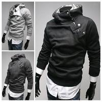 HOT!  2014 NEW  High Collar Men's Jackets ,Men's Sweatshirt,Dust Coat ,Hoodies Clothes,cotton wholesale SIZE:M-XXXL