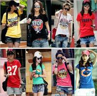 [Amy] 2014 summer new arrival women's short-sleeve t-shirts,casual cotton t shirt women free shipping 64model