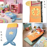 Fashion popular child sleeping bag animal hippopotami mermaid style sleeping bag chiddler baby cartoon anti tipi