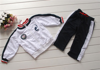175 turn-down collar t-shirt automobile race sports pants set