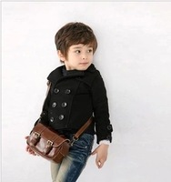 326 boys clothing double breasted short design turn-down collar small suit jacket thickening 1.75kg 34 5