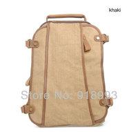 Muchuan unisex canvas bag casual shoulder bag Korean version of the influx of British retro backpack schoolbag Students