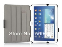 Free shipping for For Galaxy Tab pro 10.1 T520  slim  heat setting stand PU leather case mix color 200pcs/lot