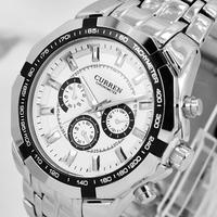 HOT Sale Formal CURREN Branded Watches, Stainless Steel Quartz Analog Men's Watches, Fashion Brand relogio