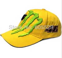 Race car luckly 46 driver 100% cotton embroidery green paw Baseball cap outside sport hat 2color 1pcs free shipping