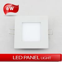 6W square panel light Embedded ceiling light AC85~265V warm white/cold white