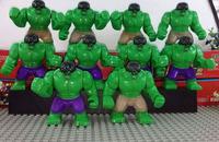 New Arrival Big Hulk Figures 7cm Super Heroes Action Figures Toys 10pcs/lot Batman Spideman Thor Hulk Building Block