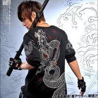 Korean manufacturers, wholesale men's fashion street Crows Soaring bottoming  round neck short sleeve t-shirt tide