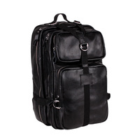 Free Shipping Unisex large computer bag back mountaineering Cowboy Real Leather Backpack Laptop Business Travel 8051