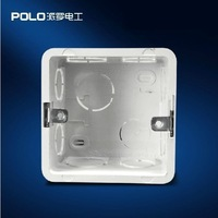 Polo Wall Switch Bottom Socket, 86 cassette, Universal Switch Back Box for 86*86mm