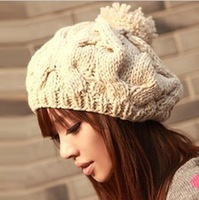 new Korean version of the pumpkin hat hand-knitted hats autumn and winter Wool cap,Warm hat,Multicolor B10 MZ005