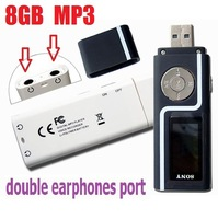 Double Earphones Port output 4G/8GB MP3 Player Lovers 8gb mp3 music players