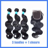 Ms Lula Peruvian Virgin Hair With Closure,Cexxy Hair Peruvian Body Wave Virgin Hair Free Style Base Closure With Bundles