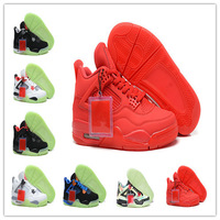 2013 New Arrived J4 men's Basketball Shoes Man Running Shoes men Athletic Shoes Luminous 1:1 quality