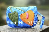 Original Designer Handbags Vintage Tie Dyed Cotton Wallet Purse Handbag Ladies Blue Makeup Bags Clutch IPHONE 5S Bag Giveaways