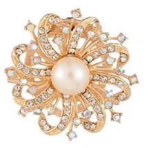popular faux pearl brooch