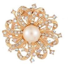 popular faux pearl brooch