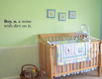 Boy n. a noise with dirt on it. On Wall Decal Sticker Wallpaper Home Window Glass Decoration Decal